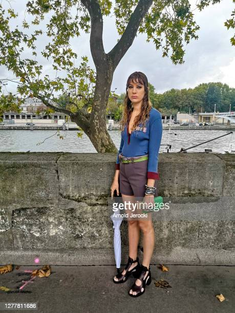 Model is seen prior the Chloe Womenswear Spring/Summer 2021 show as part of Paris Fashion Week on October 01, 2020 in Paris, France.