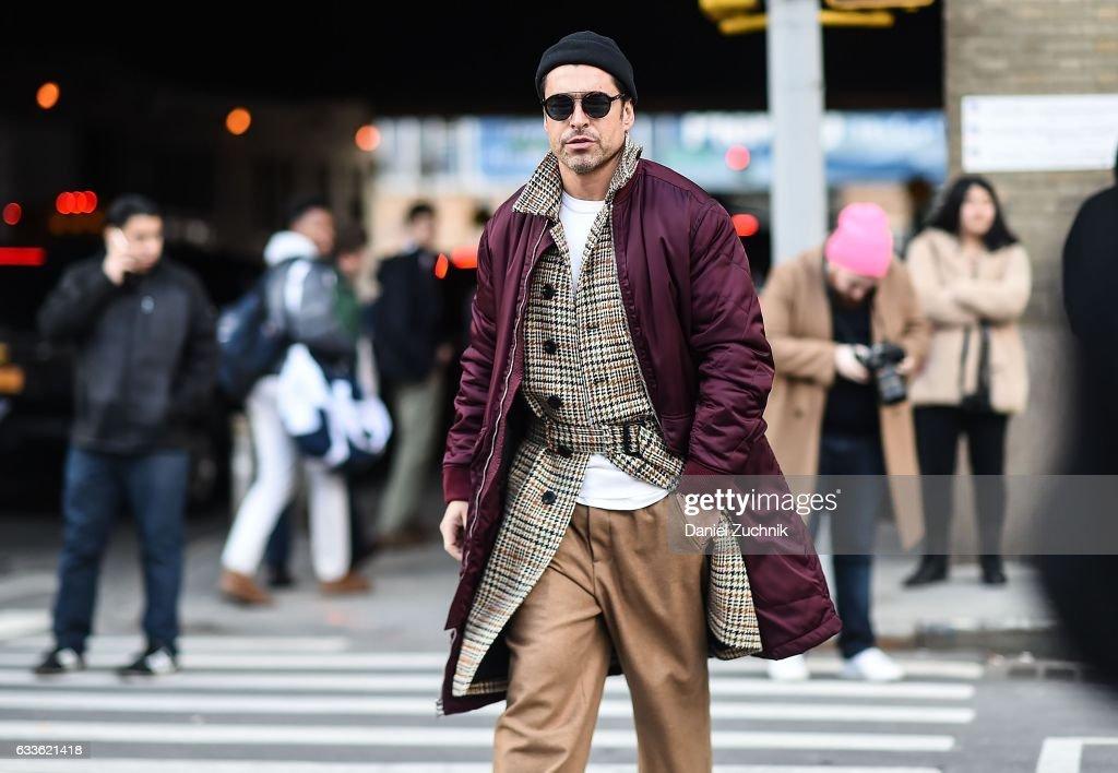 Street Style - NYFW: Men's - Day 4 : Photo d'actualité