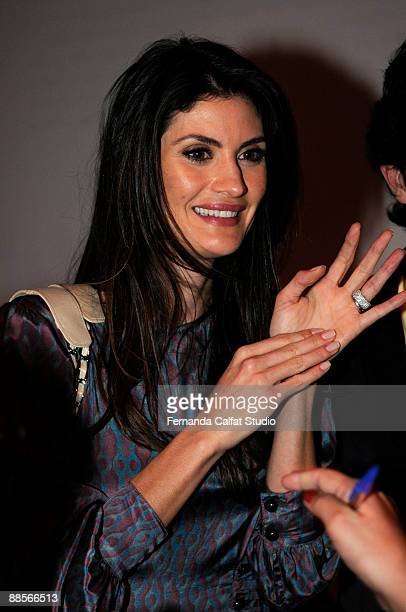 Model Isabela Fiorentino attends at the second day of Sao Paulo Fashion Week Spring Summer 2010 collection at the Bienal Pavilion in Ibirapuera Park...