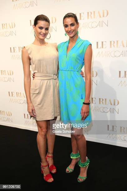 Model Isabeli Fontana and Talia Graf niece of Steffi Graf during the Marc Cain Fashion Show Spring/Summer 2019 at WEEC Westhafen on July 3 2018 in...