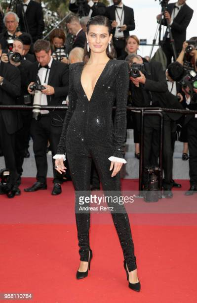 Model Isabeli Fontana attends the screening of Sink Or Swim during the 71st annual Cannes Film Festival at Palais des Festivals on May 13 2018 in...