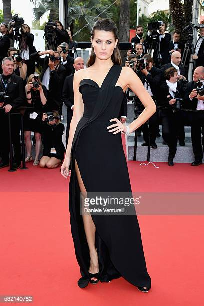 Model Isabeli Fontana attends The Unknown Girl Premiere during the 69th annual Cannes Film Festival at the Palais des Festivals on May 18 2016 in...