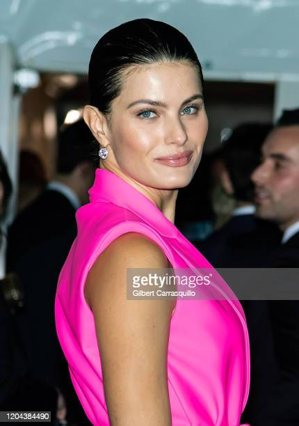 Model Isabeli Fontana is seen arriving to the 2020 amfAR New York Gala at Cipriani Wall Street on February 05 2020 in New York City