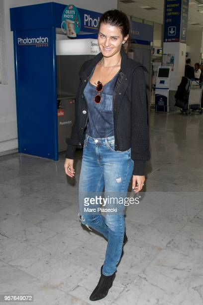 Model Isabeli Fontana is seen during the 71st annual Cannes Film Festival at Nice Airport on May 12 2018 in Nice France