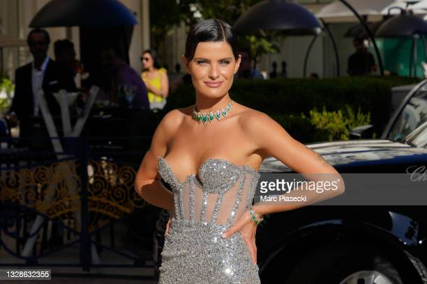 Model Isabeli Fontana is seen during the 74th annual Cannes Film Festival at on July 13, 2021 in Cannes, France.