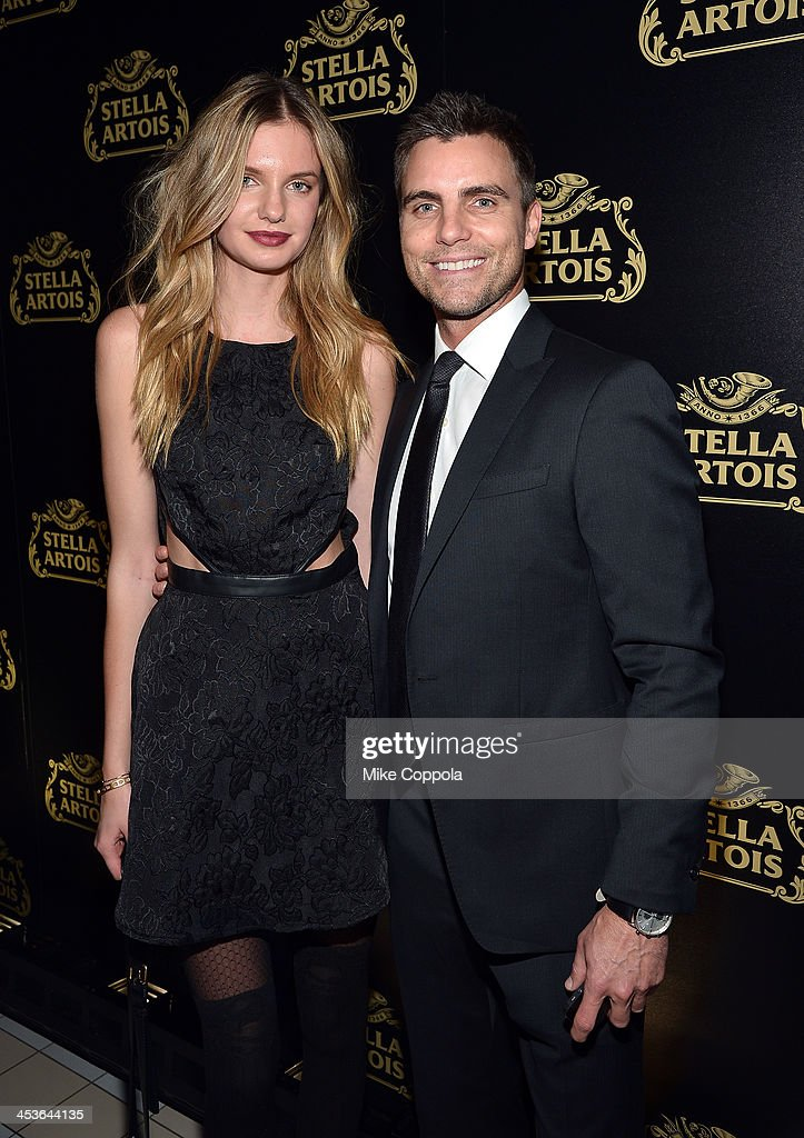Model Isabella Oberg (L) and Actor Colin Egglesfield at launch event for Stella Artois Crystal Chalice in New York Citys Meatpacking District on December 4, 2013.