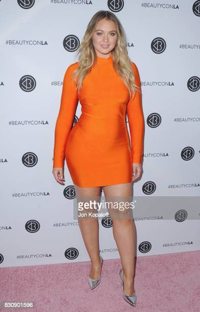 Model Iskra Lawrence arrives at the 5th Annual Beautycon Festival Los Angeles at Los Angeles Convention Center on August 12 2017 in Los Angeles...