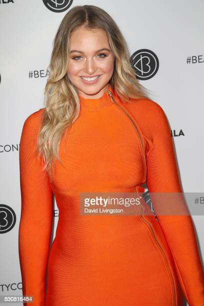 Model Iskra Lawrence attends Day 1 of the 5th Annual Beautycon Festival Los Angeles at the Los Angeles Convention Center on August 12 2017 in Los...