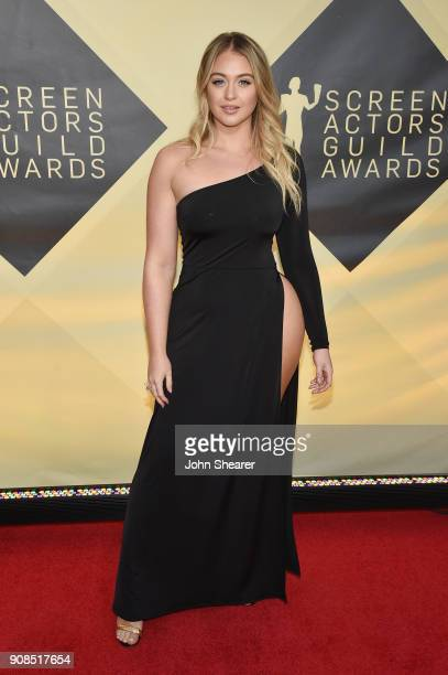Model Iskra Lawrence attends the 24th Annual Screen Actors Guild Awards at The Shrine Auditorium on January 21 2018 in Los Angeles California