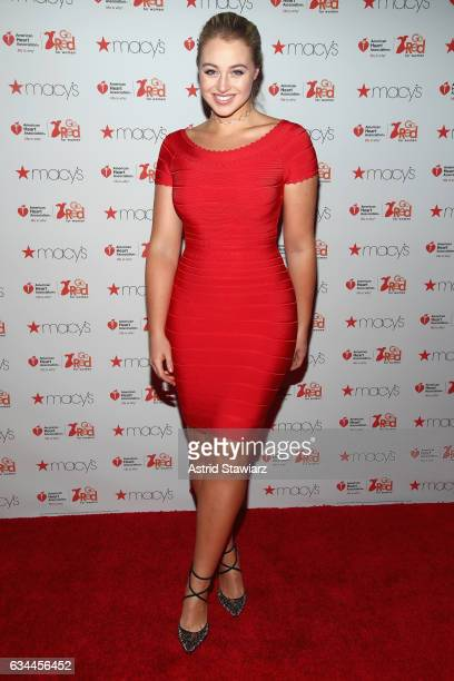 Model Iskra Lawrence attends the American Heart Association's Go Red For Women Red Dress Collection 2017 presented by Macy's at Fashion Week in New...