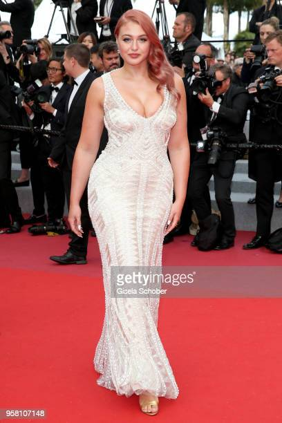 Model Iskra Lawrence attends the screening of 'Sink Or Swim ' during the 71st annual Cannes Film Festival at Palais des Festivals on May 13 2018 in...