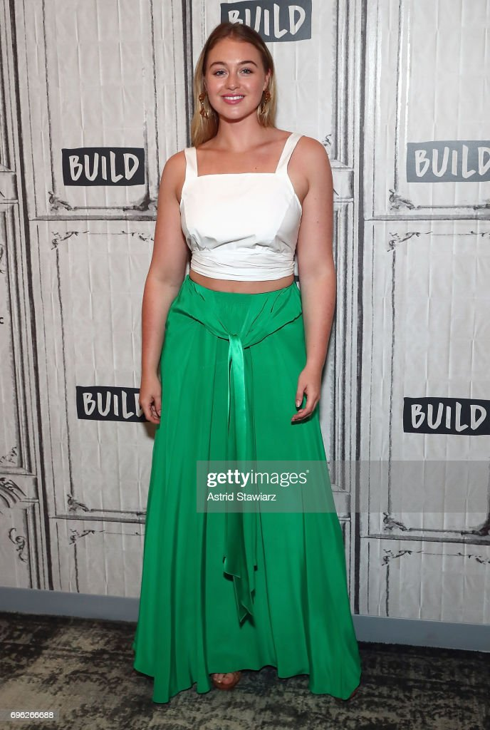 Model Iskra Lawrence discusses her involvement with the National Eating Disorders Association (NEDA) at Build Studio on June 15, 2017 in New York City.