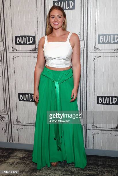 Model Iskra Lawrence discusses her involvement with the National Eating Disorders Association at Build Studio on June 15 2017 in New York City