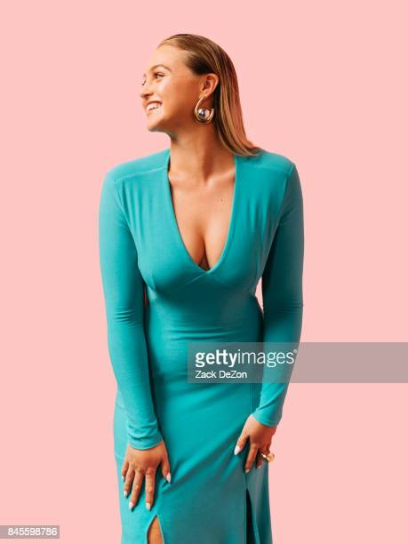 Model Iskra Lawrence poses for a portrait during the Daily Front Row's Fashion Media Awards at Four Seasons Hotel New York Downtown on September 8...