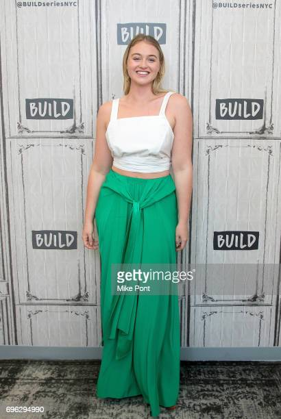 Model Iskra Lawrence visits Build Studio to discuss her involvement with NEDA at Build Studio on June 15, 2017 in New York City.