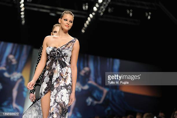 Model Ivana Mrazova walks the runway at the Roccobarocco Autumn/Winter 2012/2013 fashion show as part of Milan Womenswear Fashion Week on February 23...