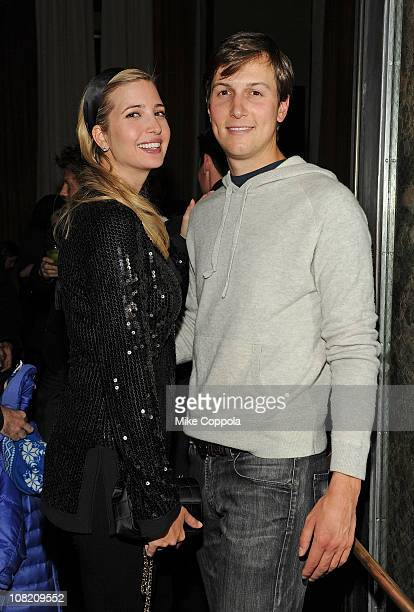 Model Ivanka Trump and Jared Kushner attend the after party for the Cinema Society with DKNY Jeans DeLeon Tequila screening of 'No Strings Attached'...