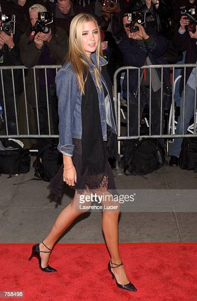 Model Ivanka Trump arrives at the premiere of 'The Sweetest Thing' April 8 2002 in New York City