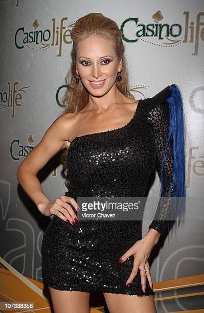 Model Ivonne Soto attends the Stivens Palacios Beautiful Glass 2010 collection at Casino Life on June 23 2010 in Mexico City Mexico