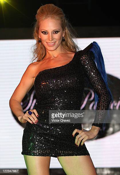 Model Ivonne Soto walks the runway wearing Stivens Palacios Beautiful Glass 2010 collection at Casino Life on June 23 2010 in Mexico City Mexico