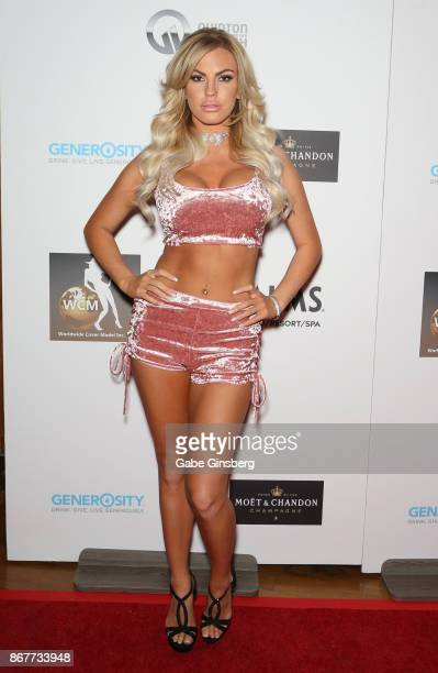 Model Ivy Ferguson attends the Worldwide Cover Model Inc photography and modeling red carpet event at The View at Palms Casino Resort on October 28...