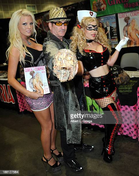 Model Ivy Ferguson publisher Robert Rhine and actress/cosplayer Diana Terranova attend Stan Lee's Comikaze Expo Presented By POW Entertainment Day 1...