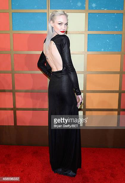Model Ivy Levan attends the 2014 Soul Train Music Awards at the Orleans Arena on November 7 2014 in Las Vegas Nevada