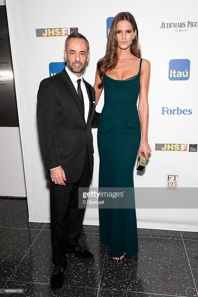 Model Izabel Goulart (R) and Francisco Costa attend the 11th Brazil Foundation NYC gala at The Museum of Modern Art on September 18, 2013 in New York City.