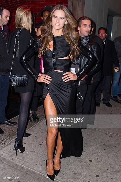 Model Izabel Goulart arrives at the 2013 Victoria's Secret Fashion Show after party at Tao Downtown on November 13 2013 in New York City
