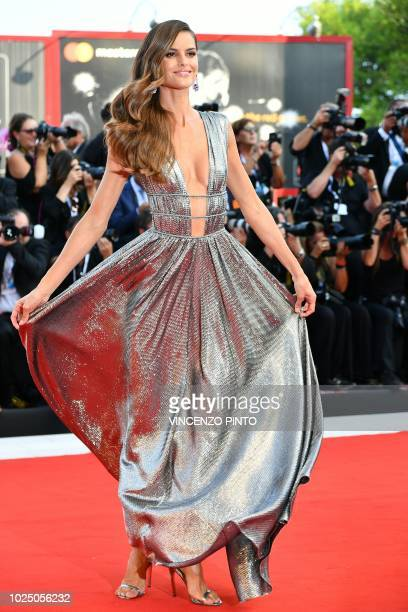 Model Izabel Goulart arrives for the opening ceremony and the premiere of the film First Man presented in competition at the 75th Venice Film...