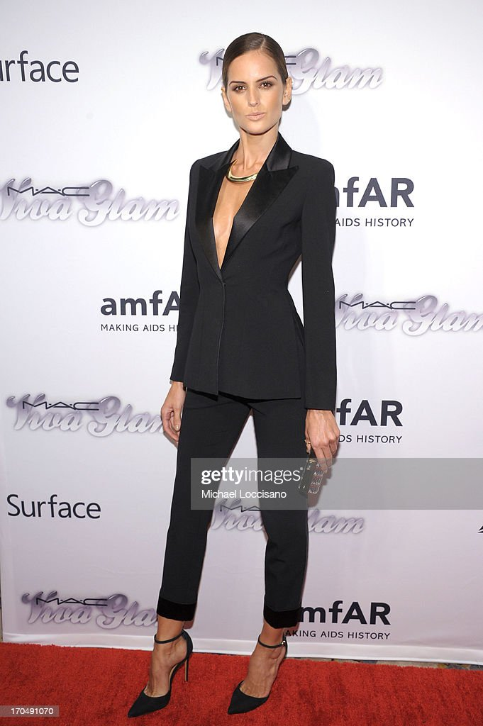 Model Izabel Goulart attends the 4th Annual amfAR Inspiration Gala New York at The Plaza Hotel on June 13, 2013 in New York City.