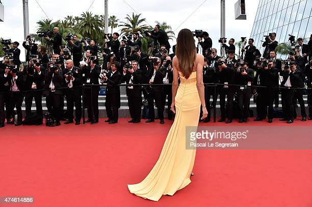 Model Izabel Goulart attends the closing ceremony and 'Le Glace Et Le Ciel' Premiere during the 68th annual Cannes Film Festival on May 24 2015 in...