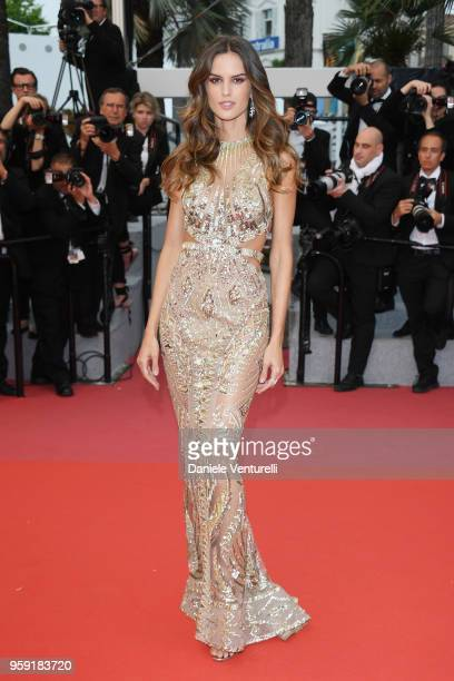 Model Izabel Goulart attends the screening of Burning during the 71st annual Cannes Film Festival at Palais des Festivals on May 16 2018 in Cannes...