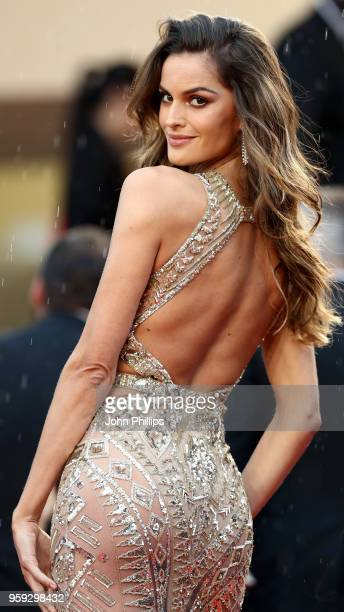 Model Izabel Goulart attends the screening of 'Burning' during the 71st annual Cannes Film Festival at Palais des Festivals on May 16 2018 in Cannes...