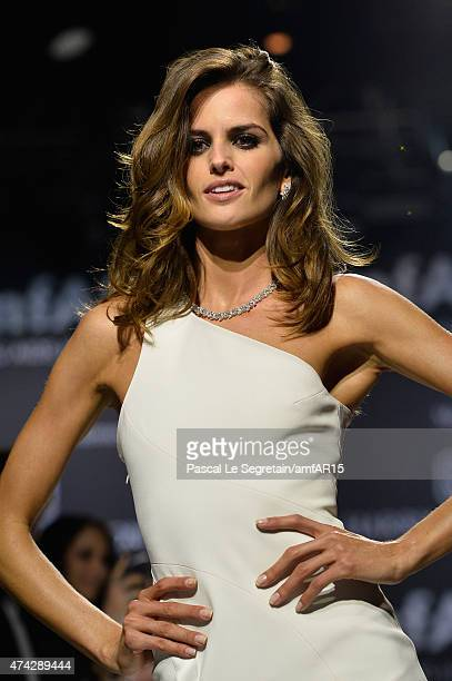 Model Izabel Goulart walks during the fashion show runway during amfAR's 22nd Cinema Against AIDS Gala Presented By Bold Films And Harry Winston at...