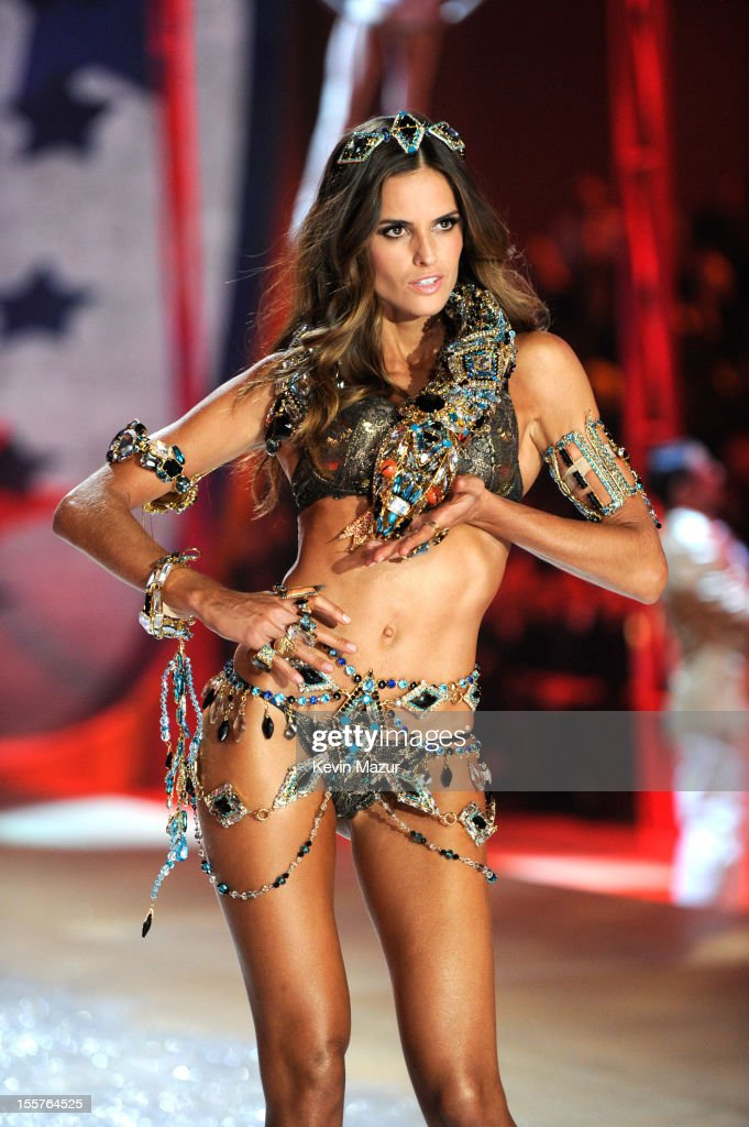 Model Izabel Goulart walks the runway during the 2012 Victoria's Secret Fashion Show at the Lexington Avenue Armory on November 7, 2012 in New York City.