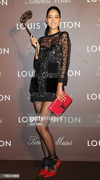 Model Izumi Mori attends Louis Vuitton 'Timeless Muses' exhibition at the Tokyo Station Hotel on August 29 2013 in Tokyo Japan