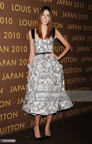 Model Izumi Mori attends the Louis Vuitton Leather and Craftsmanship event at Tabloid on October 14 2010 in Tokyo Japan