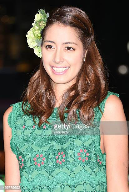 Model Izumi Mori attends the Omotesando Illumination Lighting Ceremony on December 1 2014 in Tokyo Japan