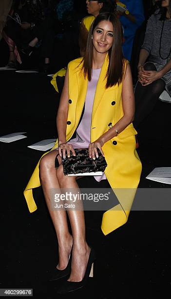 Model Izumi Mori is seen at the front row of 'Esprit Dior' Tokyo 2015 Fashion Show at Ryogoku Kokugikan on December 11 2014 in Tokyo Japan