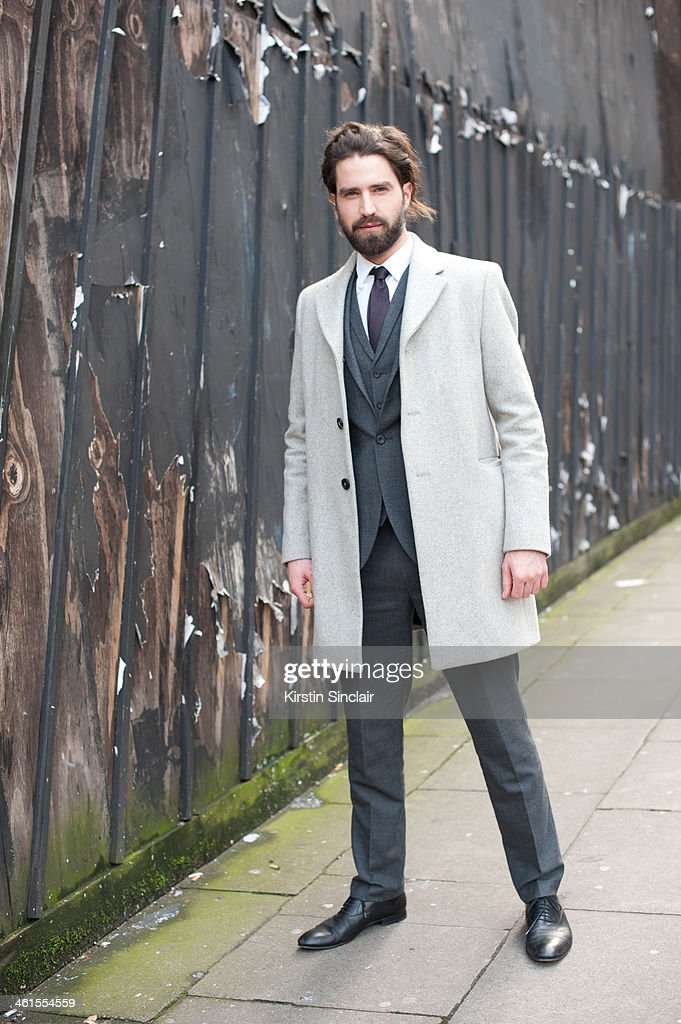 Model Jack Guinness Wears A Cos Coat Austin Reed Suit And Gucci News Photo Getty Images