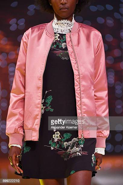 A model jacket detail walks the runway at the Zalando fashion show during the Bread Butter by Zalando at arena Berlin on September 4 2016 in Berlin...