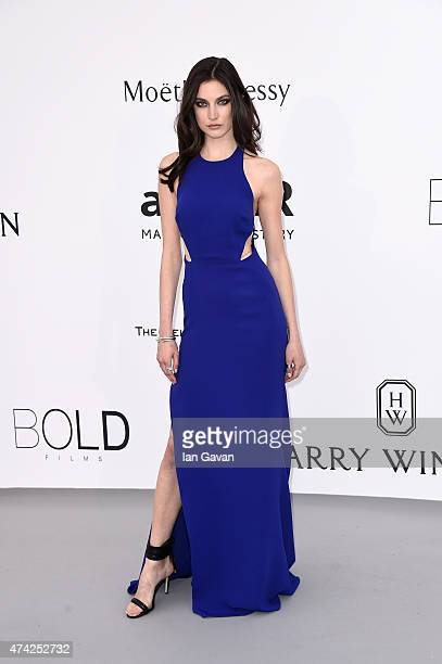 Model Jacquelyn Jablonski attends amfAR's 22nd Cinema Against AIDS Gala Presented By Bold Films And Harry Winston at Hotel du CapEdenRoc on May 21...