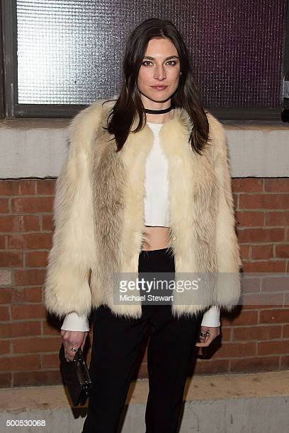 Model Jacquelyn Jablonski attends the 2015 Victoria's Secret Fashion Show viewing party at Highline Stages on December 8 2015 in New York City