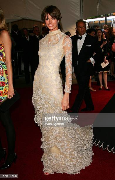 Model Jacquetta Wheeler attends the Metropolitan Museum of Art Costume Institute Benefit Gala Anglomania at the Metropolitan Museum of Art May 1 2006...