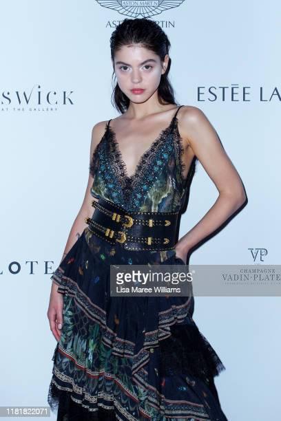 Model Jade Hoek attends the BAZAAR In Bloom Charity Gala at Art Gallery Of NSW on October 18, 2019 in Sydney, Australia.