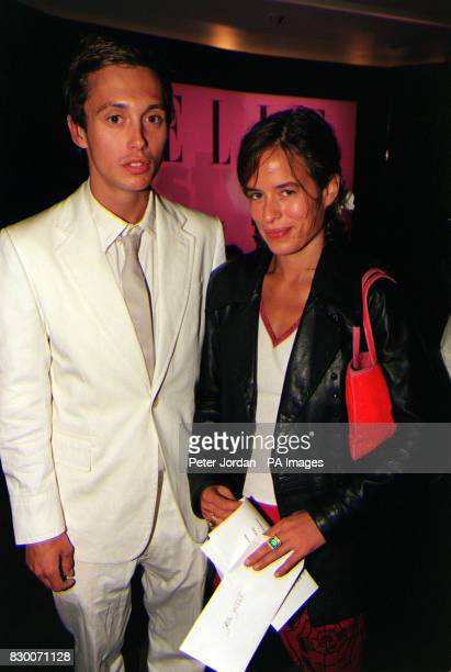 Model Jade Jagger with her boyfriend Dan MacMillan at the Elle Style Awards at London's Sound Republic.