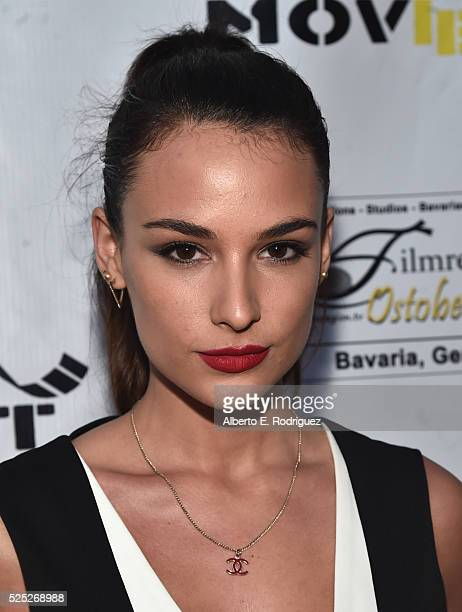 """Model Jade Leboeuf attends the Atomic Age Cinema Fest Premiere of """"The Man Who Saved The World"""" at Raleigh Studios on April 27, 2016 in Los Angeles,..."""
