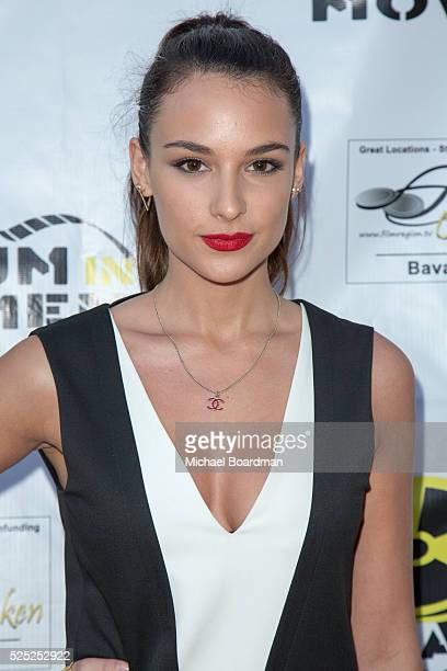 """Model Jade Leboeuf attends """"The Man Who Saved The World"""" premiere during the Atomic Age Cinema Fest at Raleigh Studios on April 27, 2016 in Los..."""