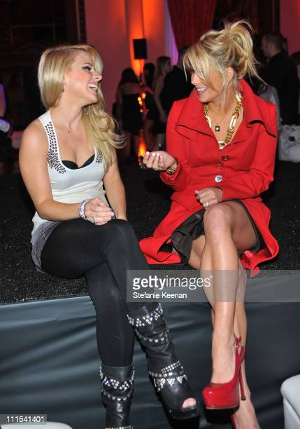 """Model Jaimie Hilfiger and TV personality Shayne Lamas attend the grand opening of """"Pandora"""" at Vibiana on October 27, 2009 in Los Angeles, California."""